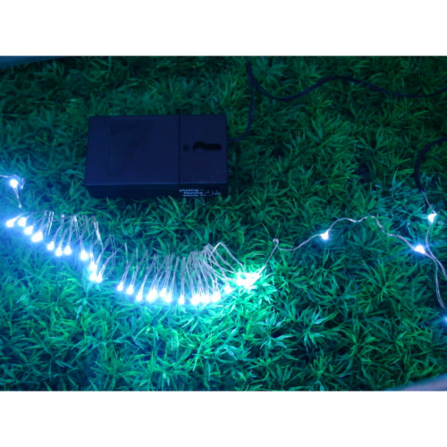 36 White Battery Operated LED String Lights - 9 ft - IMAGE 1