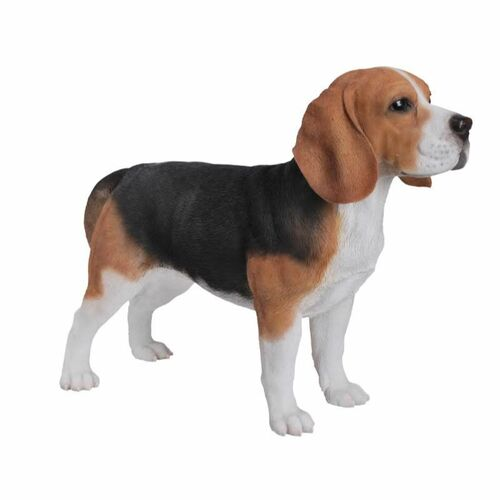 """22"""" Black and Brown Modern Standing Beagle Statue - IMAGE 1"""
