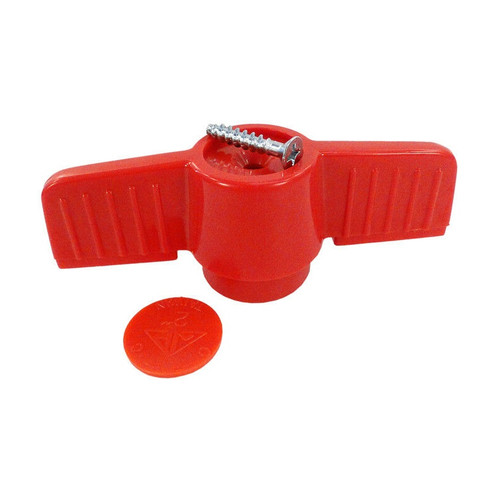 """2"""" Red American Granby Ball Valve Replacement Handle-HMIP200 - IMAGE 1"""