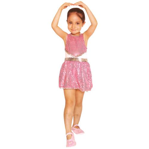 Pink and White Ballerina Leotard Girl Child Halloween Costume - Medium - IMAGE 1