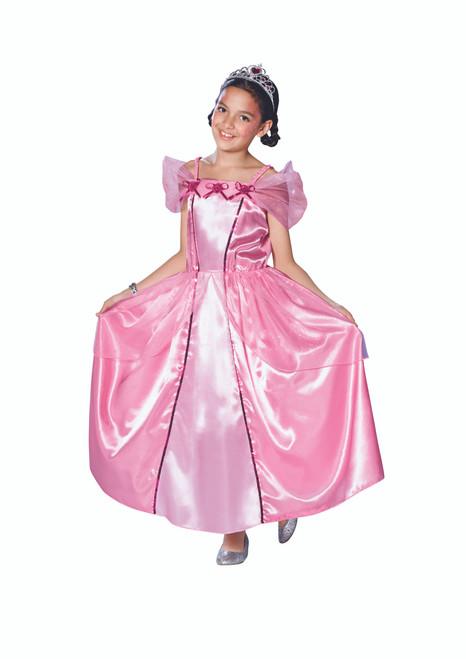 Pink Princess Girl Child Halloween Costume - Large - IMAGE 1