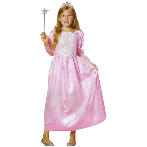 Pink and Silver Princess Girl Child Halloween Costume - Large - IMAGE 1