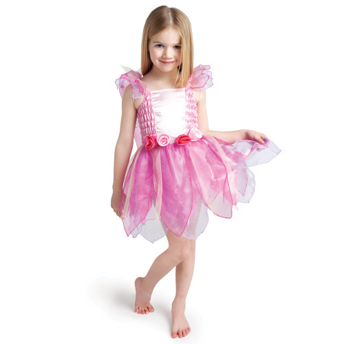 Pink and White Princess Fairy Girl Toddler Halloween Costume - Small - IMAGE 1