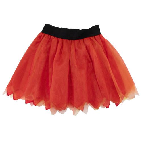"17"" Orange And Black Halloween Skirt Costume Accessory - IMAGE 1"