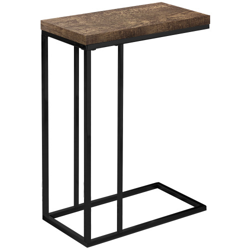 """25.25"""" Brown and Black Contemporary Rectangular Accent End Table - IMAGE 1"""