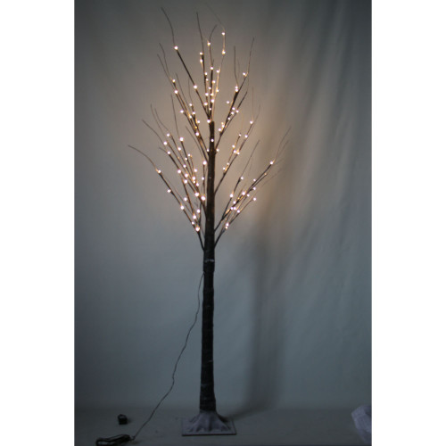 6.75' Pre-Lit Pencil Functional Artificial Christmas Tree - Warm White LED Lights - IMAGE 1