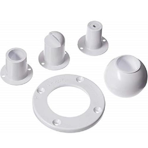 White Inlet Eyeball Replacement Kit Pool Inlets - IMAGE 1