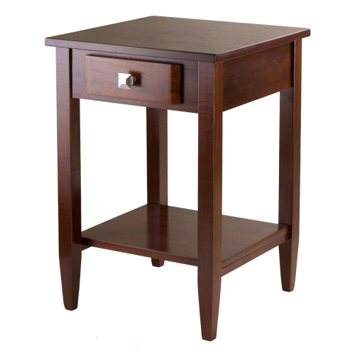 """25.75"""" Walnut Brown Richmond Wooden End Table - IMAGE 1"""