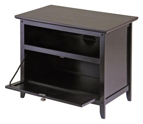 "25"" Dark Espresso Elegant Zara Rectangular TV Stand - IMAGE 1"