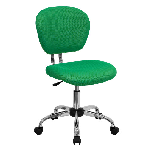 "37.5"" Green Mid-Back Mesh Padded Swivel Task Office Chair - IMAGE 1"