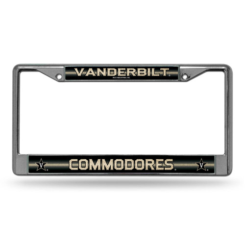 """6"""" x 12"""" Black and Gold Colored College Vanderbilt Commodores License Plate Cover - IMAGE 1"""