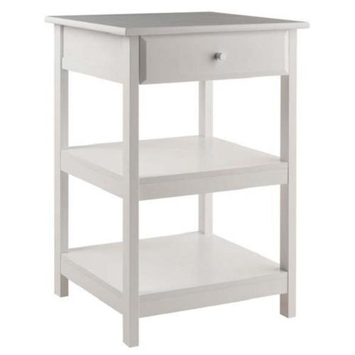 "30.50"" White Modern Style Delta Wood Printer Table - IMAGE 1"