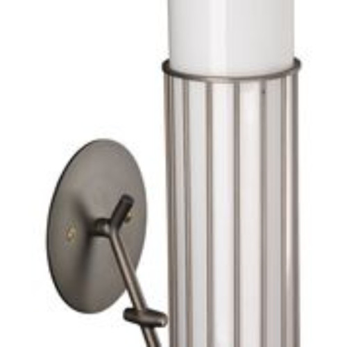 "17"" Gray and White Torino Wall Sconce in Gun Metal - IMAGE 1"