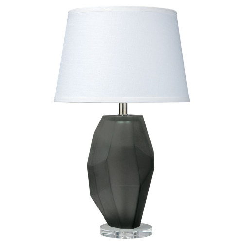 """24.50"""" White and Gray Prism Table Lamp with Medium Open Cone Shade - IMAGE 1"""