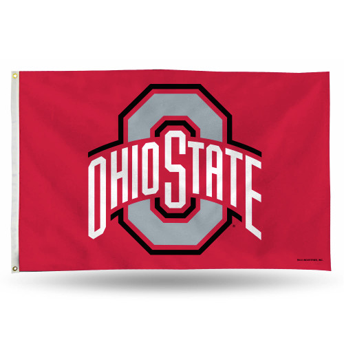 3' x 5' Red and Gray College Ohio State Buckeyes Rectangular Banner Flag - IMAGE 1