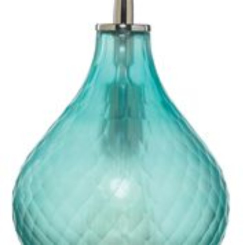 """9"""" Blue Small Cloud Glass Hanging Pendant Ceiling Light Fixture - IMAGE 1"""