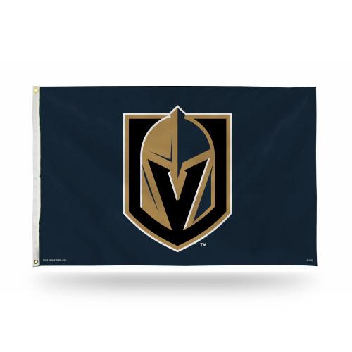 3' x 5' Black and Brown NHL Vegas Golden Knights Rectangular Banner Flag - IMAGE 1