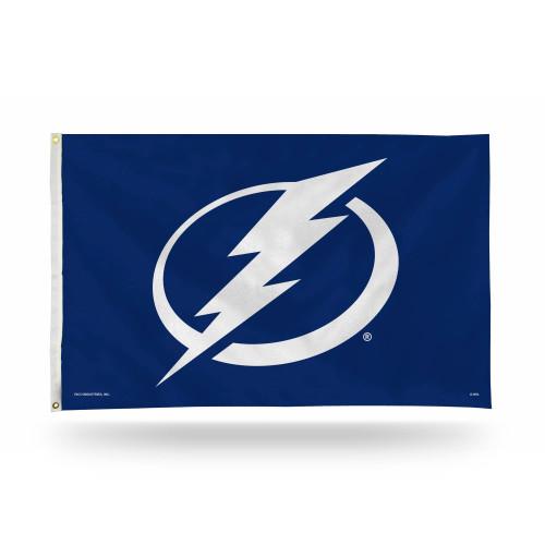 3' x 5' Blue and Gray NHL Tampa Bay Lightning Rectangular Banner Flag - IMAGE 1