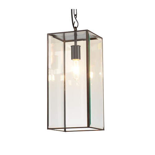 """20"""" Clear Glass and Oiled Bronze Chelsea Short Pendant Ceiling Light - IMAGE 1"""