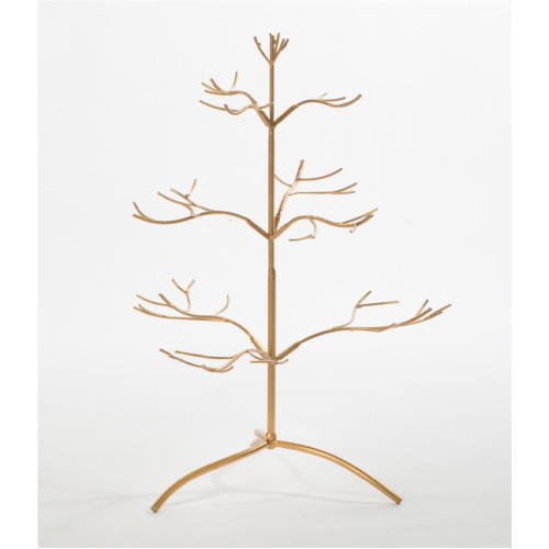 """37"""" Gold Ornamental Artificial Tree with 3 Tiers Branches - Unlit - IMAGE 1"""
