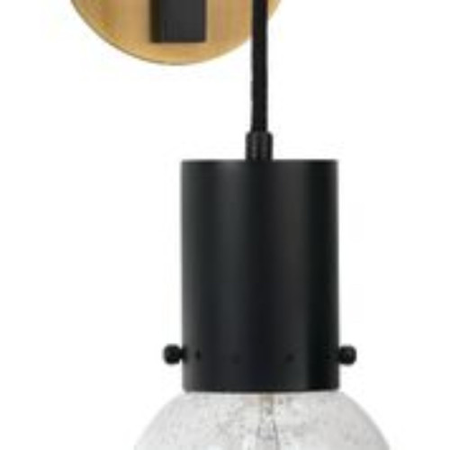 """14"""" Clear and Black Strada Pendant Sconce with Oiled Bronze - IMAGE 1"""
