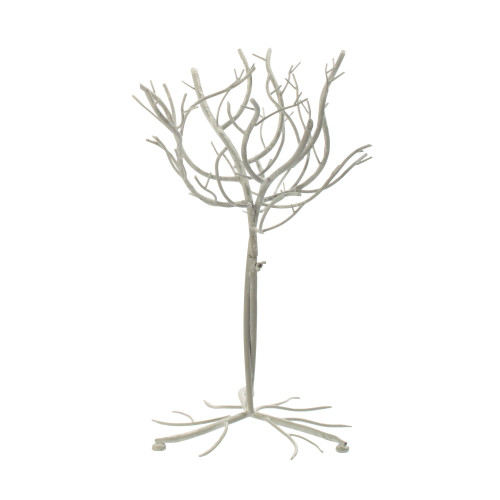 "27.25"" White Artificial Tree with Flocked Branches - IMAGE 1"