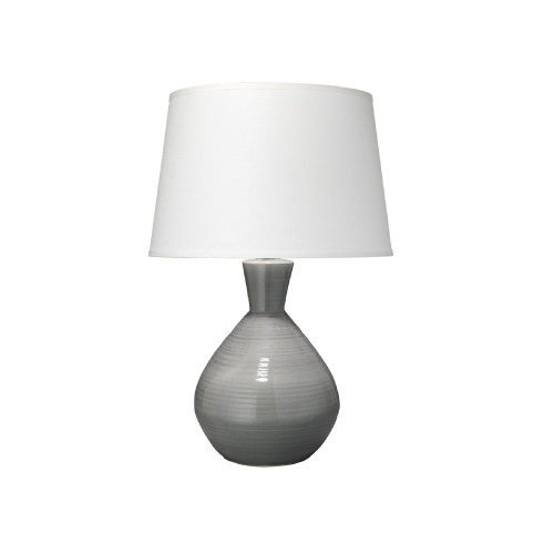 "31""Grey Crackle Glace Ceramic with Large Cone Shade Table Lamp - IMAGE 1"