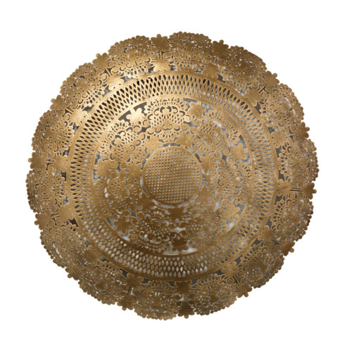"19"" Brass New Penelope Lace Wall Art Antique Medallion - IMAGE 1"