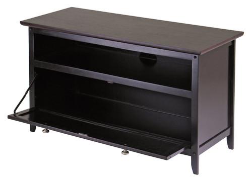 "35.75"" Dark Espresso Elegant Zuri Rectangular TV Stand - IMAGE 1"