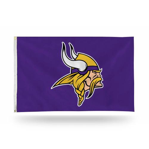 3' x 5' Purple and Yellow NFL Minnesota Vikings Rectangular Banner Flag - IMAGE 1