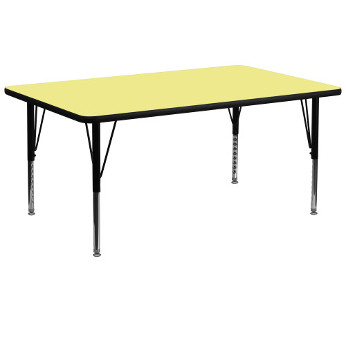 72'' Yellow and Black Contemporary Thermal Activity Table - IMAGE 1