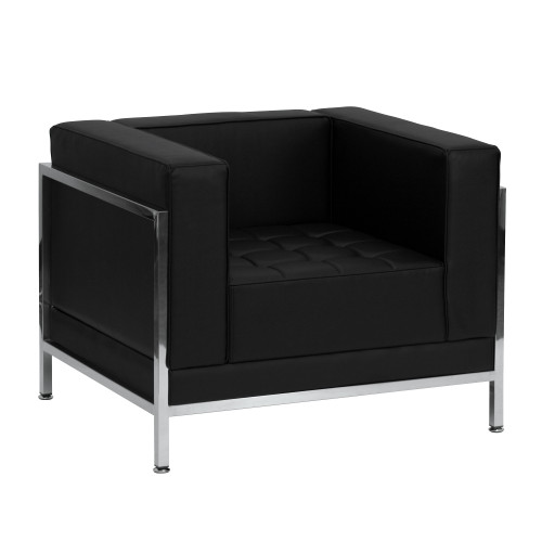 """35"""" Black and Gray Solid Contemporary Modular Upholstery Chair - IMAGE 1"""