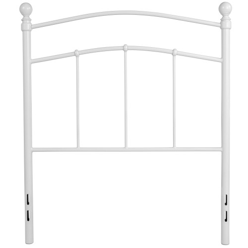 """42"""" White Contemporary Open Vertical Headboard - Twin Size - IMAGE 1"""