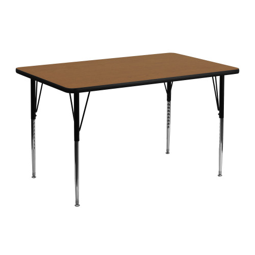 """48"""" Brown and Black Contemporary Thermal Activity Table - IMAGE 1"""