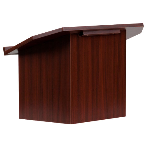 """19"""" Red and Black Contemporary Foldable Tabletop Lectern - IMAGE 1"""
