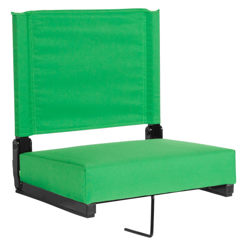 """18"""" Bright Green Grandstand Comfort Seats by Flash with Ultra-Padded Seat - IMAGE 1"""