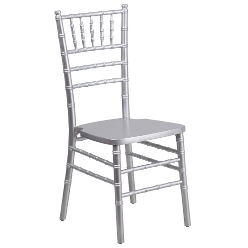 """36.25"""" Silver Traditional Outdoor Furniture Patio Chiavari Chair - IMAGE 1"""