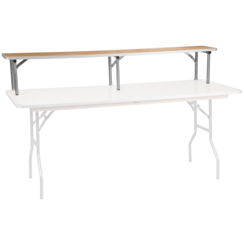 """72"""" Brown and Silver Contemporary Foldable Bar Top Riser - IMAGE 1"""