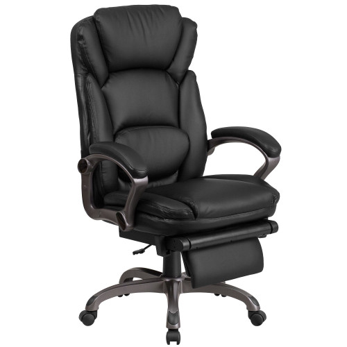 "58"" Black High Back Executive Reclining Swivel Office Chair with Arms - IMAGE 1"