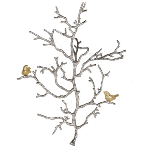 """22"""" Silver and Gold Modern Style Small Atelier Branch Wall Sculpture - IMAGE 1"""