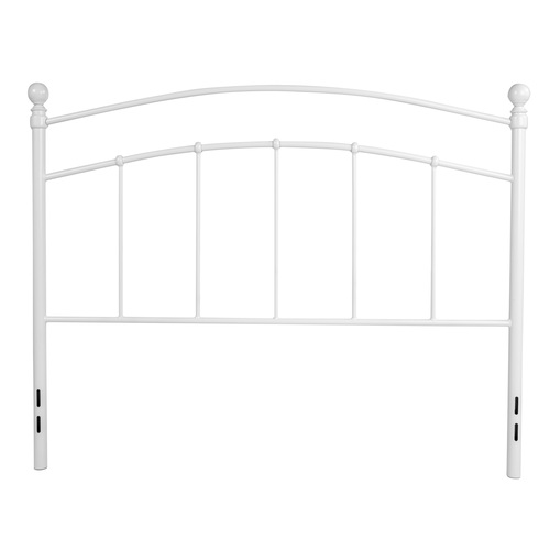 """55"""" White Contemporary Open Vertical Headboard - Full Size - IMAGE 1"""