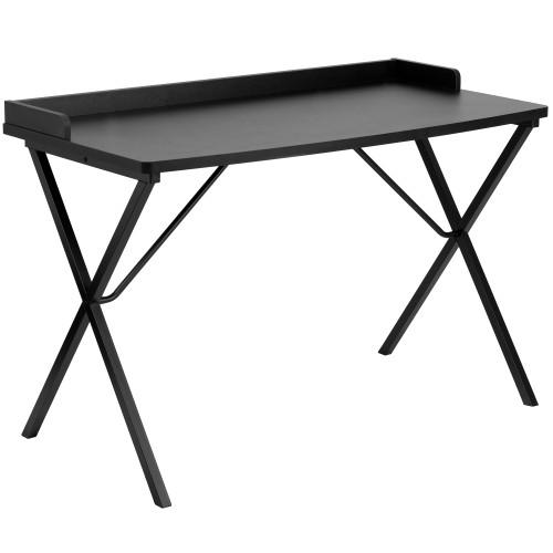 "47.25"" Black Contemporary Rectangular Computer Desk - IMAGE 1"