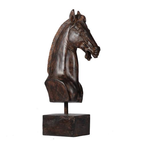 "16.5"" Bronze Horse Head Classic Vintage Decorative Accent - IMAGE 1"