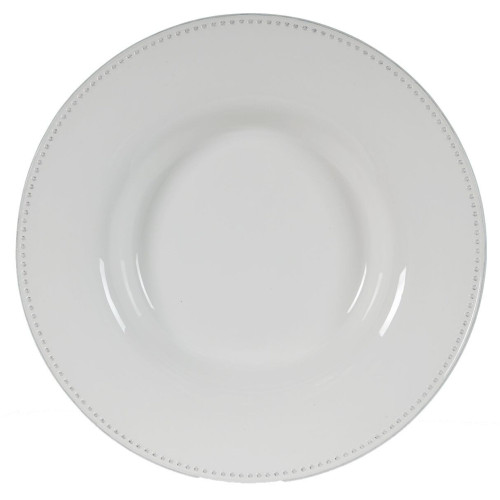 """18.25"""" White Contemporary Round Serving Plate - IMAGE 1"""
