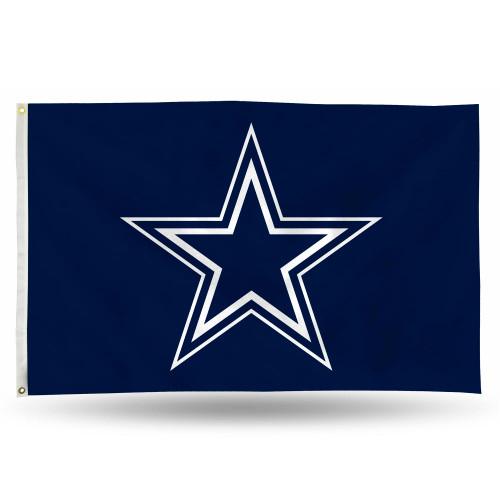 3' x 5' Blue and White NFL Dallas Cowboys Rectangular Banner Flag - IMAGE 1