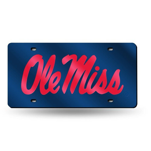 """12"""" Blue and Red College Mississippi Rebels Cut Tag - IMAGE 1"""