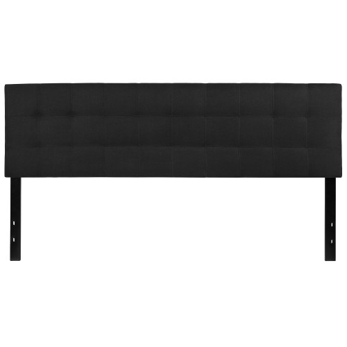 "78.75"" Black Contemporary Upholstered King Panel Headboard - IMAGE 1"