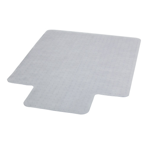 """52.25"""" Clear Contemporary Carpet Chair Mat with Lip - IMAGE 1"""