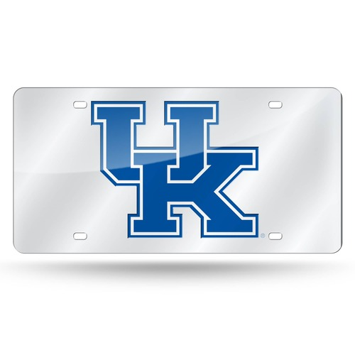 """6"""" x 12"""" Silver Colored and Blue College Kentucky Wildcats Tag - IMAGE 1"""