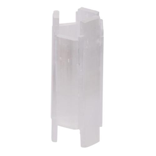 "7.75"" White Selenite Stone Tall Candle Holder - IMAGE 1"